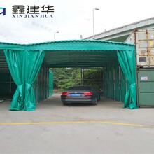 天津小區停車遮陽棚抗壓強大,汽車簡易車棚圖片