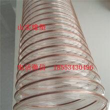 透明钢丝管PU钢丝吸尘管工业软管厂家