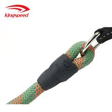 亞馬遜熱銷提花圓繩編織繩寵物牽引繩新款多功能牽引帶防緩沖手把狗鏈圖片