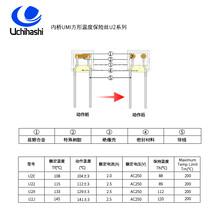 深圳专营U2X方形温度保险丝,UMI内桥热熔断体