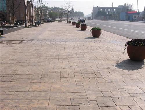 服务:宝鸡彩色图案压花地坪城市绿道