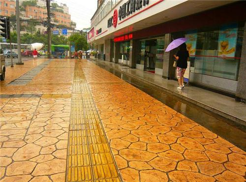 (行业):泰州水泥压花路面--欢迎您