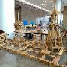 幼儿园教具厂家/幼儿园积木玩具生产厂家/大型户外碳化积木批发