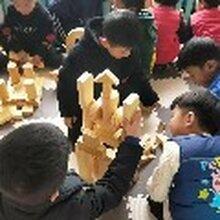 幼儿园益智积木玩具/儿童木质碳化积木/大型户外炭烧积木