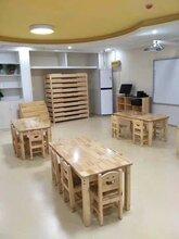青岛幼儿园实木桌椅/青岛实木儿童桌椅厂家/幼儿园儿童桌椅