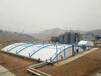 污水反吊膜安裝,膜結構污水池棚