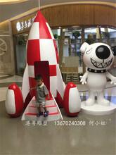 广场招财迎宾雕塑1.7米高卡通狗雕塑室内立体公仔雕塑图片