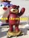粗壯肥大的玻璃鋼卡通熊雕塑商場維尼熊雕塑模型裝飾布景