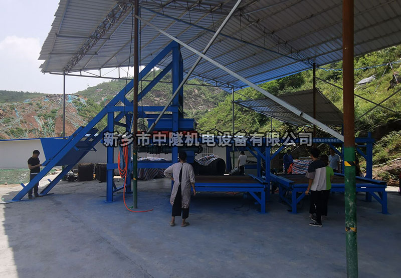 新鄉45型混凝土預制構件生產線 拱形骨架預制布料機