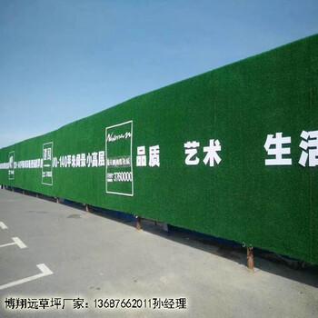 绿草皮墙面