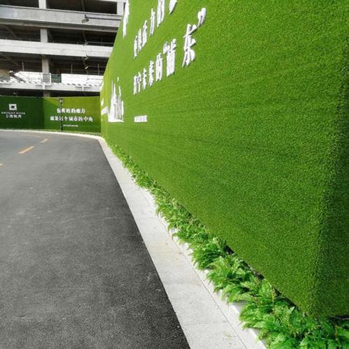 假草坪綠植墻體圖片大全