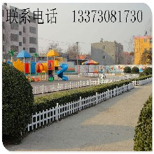 厂家专业生产塑钢围挡绿化带栏杆蓝白间隔pvc护栏草坪塑钢护栏图片