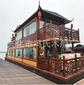 款豪華雙層餐飲畫舫船電動玻璃鋼觀光木船水上商務議事廳圖片