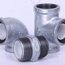 迈克衬塑管件,衬塑管件,钢塑管件,丝扣玛钢管件图片