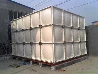 组合式消防水箱玻璃钢材质/乳白色拼装消防水箱