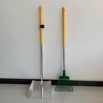 園藝簸箕耙套裝寵物糞便垃圾清潔工具金屬鏟耙兩件套