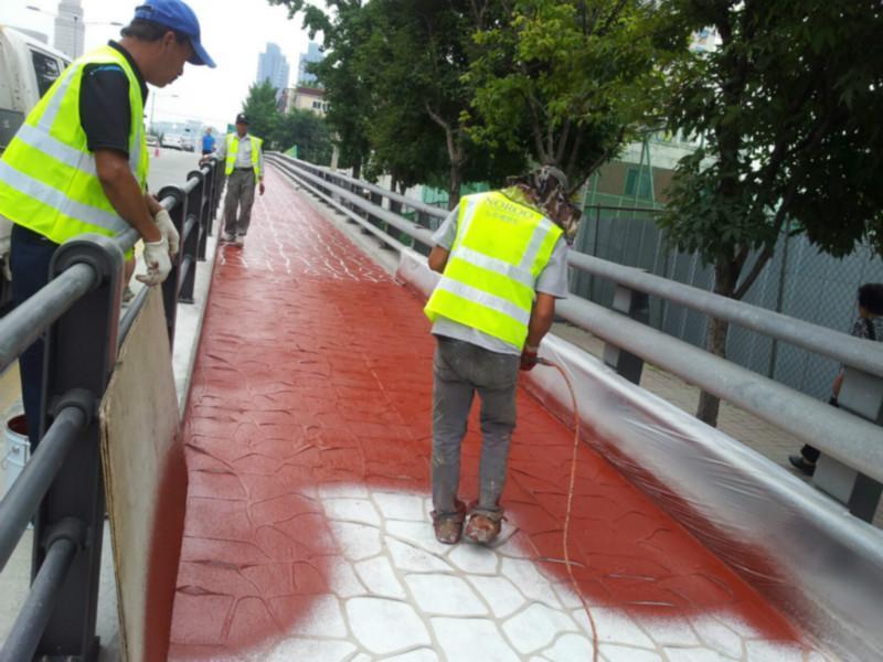 海曙区彩色沥青施工图片彩色沥青色粉