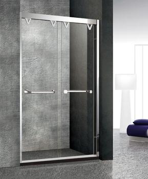 新款304不锈钢玫瑰金淋浴房玻璃隔断