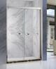 广东佛山厂家直销304不锈钢玫瑰金卫生间玻璃隔断淋浴门简易淋浴房