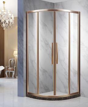 304新款不锈钢淋浴门卫生间玻璃隔断