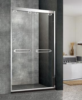卫斯雅304不锈钢新款淋浴门淋浴房玻璃隔断移门