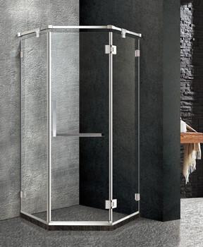佛山厂家直销新款304不锈钢钛金玻璃隔断淋浴房