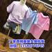 幾塊十幾塊學院風大童韓版短袖T恤衫套裝批發學生裝百搭簡約時尚中長款T裙前短后長T恤
