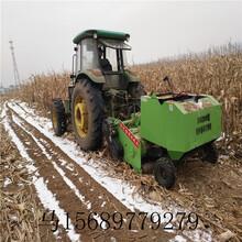 自动进料打捆机大型玉米秸秆捡拾粉碎打捆机图片