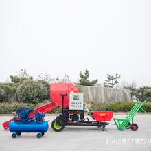 浙江自动上料打捆机自动上料包膜机皇竹草覆膜机秸秆覆膜机图片