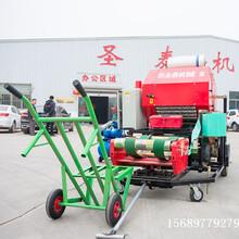 四川青饲料打捆机玉米杆打包机青贮包膜机青储打捆机自动上料图片