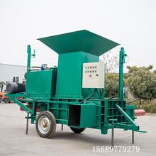 云南苜蓿草青储压块机全自动牧草青贮方捆打包机图片