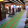 健身房功能体能360私教训练专用PVCV塑胶地板地垫地胶