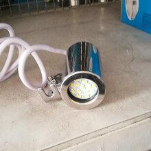 温州市厂家直销不锈钢射灯法兰试镜灯活接视镜灯12V24VLED灯卤素灯图片