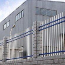 江门江海区铁艺护栏热镀锌围栏围墙栏杆双向折弯防攀爬护栏组装式锌钢护栏多少钱一米图片