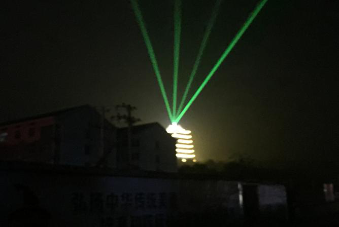 楼顶激光灯-地标激光灯-楼体激光灯