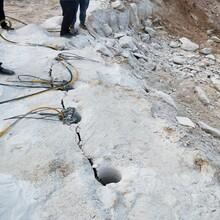 杭州露天矿山开采石头静态破石机哪里便宜图片