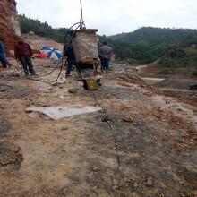 宁河矿山开采挖石头土石方不能爆破图片