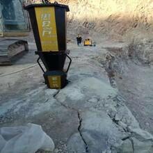 淮北山上破碎石头机器液压裂石机图片