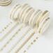厂家来图定制日式超窄烫金手工DIY装饰手帐胶带