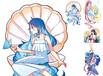 来图定制特殊油墨卡通动漫少女DIY素材手帐胶带