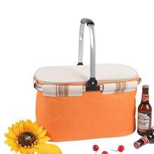 供应厂家批发定做欧美野餐篮野餐包野餐篮购物篮保温篮图片