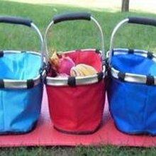 供應廠家批發定做野餐籃歐美野餐包野餐籃購物籃保溫籃圖片