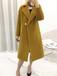 2020品牌女裝尾貨大衣時尚氣質雙面羊駝絨大衣外套折扣批發