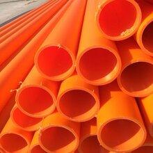 橘紅色mpp直埋管拉管價格河南洛陽mpp電力管生產廠家圖片
