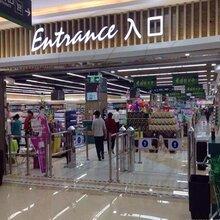 包邮·鑫翼通科技制订6柱圆柱超市感应门·超市出入口系统·超市自动感应摆闸