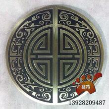 仿古铜实心铝板雕刻半圆大门拉手富有十足的手感图片