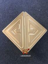 拉絲鈦金鋁板精雕三角形花紋大門拉手制作工藝值得您細細品味圖片