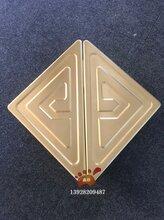 拉丝是虎王三兄弟钛金铝板精雕三角形花纹大门拉手制作→工艺值得您细细品味图∑片