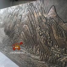純銅浮雕立體雕花壁畫裝飾背景墻設計精致而大方圖片