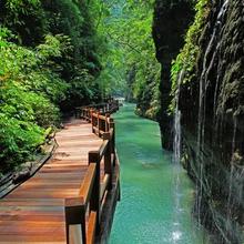浙江温州三垟湿地公园依水栈道防腐防湿的木塑铺板